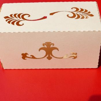 pudełko wycięte laserem papier 250 gram